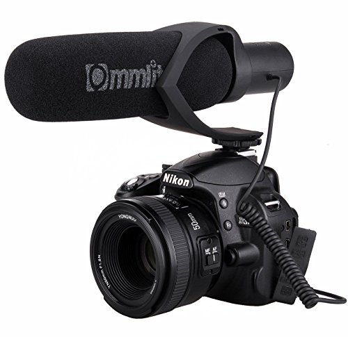Comica CVM-V30 Shotgun Camera Microphone Super-Cardioid Directional Condenser Photography Interview Lightweight Video Microphone for Nikon,Canon and DSLR ...