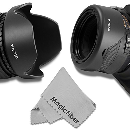 58MM Reversible Flower Lens Hood 2013 Update for Canon EOS Rebel T5i T4i T3i T3 T2i T1i XT XTi XSi SL1 650D 1100D 550D and More