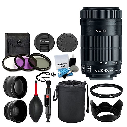 Canon EF-S 55-250mm F4-5 6 IS STM Lens for Canon SLR Cameras
