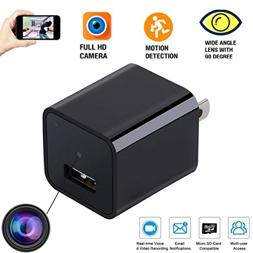Spy Camera Wireless Hidden -Indoor USB Wall Charger Camera-Nanny Cam