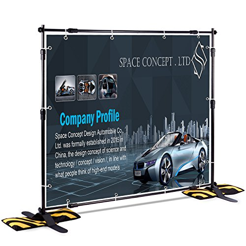 T Sign 8 X8 Professional Backdrop Banner Stand Large Tube