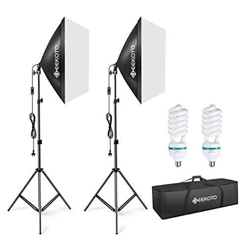 Diffused Light Stand: GEEKOTO Softbox Studio Lights 20″ X 28″, Softbox Lighting