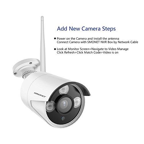 Wireless 960P IP Camera,SMONET 960P Surveillance CCTV Outdoor Indoor